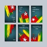 Togo Patriotic Cards para o dia nacional ilustração stock