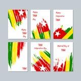 Togo Patriotic Cards per la festa nazionale illustrazione vettoriale