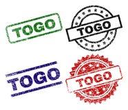 TOGO Seal Stamps texturisé endommagé Illustration de Vecteur