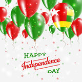 Togo Vector Patriotic Poster Fond de grunge de l'indépendance Day Illustration Libre de Droits