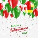 Togo Vector Patriotic Poster Fond de grunge de l'indépendance Day Image stock