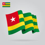 Togo waving Flag. Vector illustration. Royalty Free Stock Photo