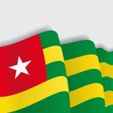 Togo waving Flag. Vector illustration. Royalty Free Stock Images