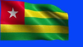 Togolese Republic, Flag of Togo - seamless LOOP royalty free illustration