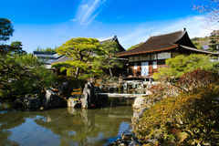 Togu-do in the garden. At Gingakuji temple,Japan Royalty Free Stock Images
