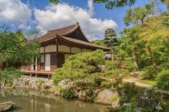 Togudo Hall at Ginkakuji Silver Pavilion - Zen temple along Kyoto`s eastern mountains Royalty Free Stock Photos