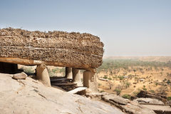 Toguna in a Dogon village, Mali, Africa. Royalty Free Stock Photos