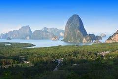 Toh Li punkt widzenia, Phang nga, Tajlandia Obrazy Stock