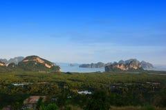 Toh Li punkt widzenia, Phang nga, Tajlandia Zdjęcia Stock