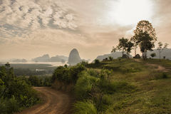 Toh Li view point,new unseen of natural beautiful sunrise Royalty Free Stock Photos
