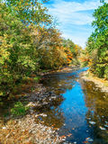 Tohickon Creek View. A fall view of Tohickon Creek in Pt Pleasant, Bucks County pennsylvania Royalty Free Stock Photography