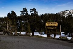 Tohoe Meadows Trailhead Signage Royalty Free Stock Photos