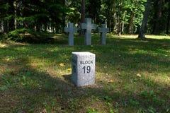 Free Toila, Estonia - July 09, 2011: An Old German Cemetery At The Edge Of The Park Toila-Oru Royalty Free Stock Image - 63958886