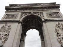 Toile łuk De Triomphe na miejscu De L ` Ã ‰ Paryż, Francja - Obraz Royalty Free