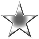 étoile 3d argentée Images libres de droits