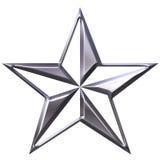 étoile 3d argentée Photos libres de droits