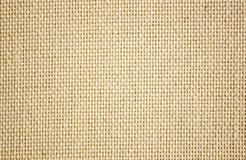 Toile approximative de jaune de toile Texture de tissu brut, toile de jute Image libre de droits