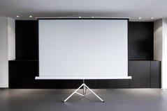 Toile blanc de projecteur Photos stock