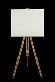 Toile blanc sur un support Photographie stock