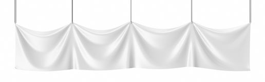 Toile blanche, bannière vide de maquette d'isolement rendu 3d Image stock