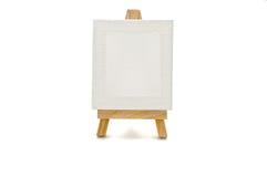 Toile blanche sur une tablette Photo stock