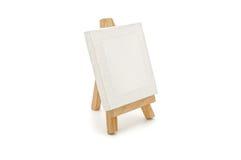 Toile blanche sur une tablette Photos stock