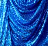 Toile bleue de glitte de disco Photographie stock