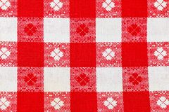 Toile checkered rouge comme fond Photographie stock libre de droits