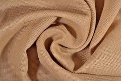 Toile chiffonnée de coton pour la couture comme fond Images stock