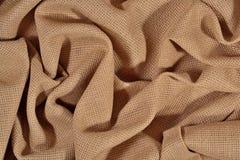 Toile chiffonnée de coton pour la couture comme fond Image libre de droits