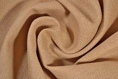 Toile chiffonnée de coton pour la couture comme fond Photos libres de droits