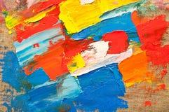 Toile colorée Photographie stock libre de droits
