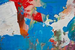 Toile colorée Photographie stock