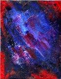 Toile colorée de pétrole Photo libre de droits