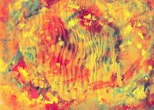 Toile colorée de peintures, art image libre de droits