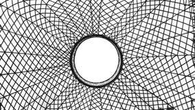 Toile d'araignée dans le blanc Photographie stock libre de droits