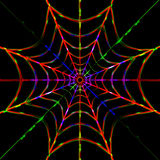 Toile d'araignée de foudre Image libre de droits