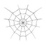 Toile d'araignée de vecteur Toile d'araignée pour la conception de Halloween ou la copie de T-shirt D'isolement sur le fond blanc Photographie stock