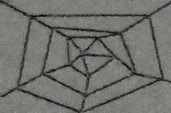 Toile d'araignée des fissures. Asphalte Images libres de droits