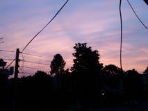 Toile de ciel photo stock