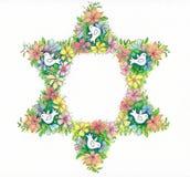 Étoile de David florale Photo stock
