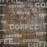 Toile de jute de cru de texture de café de fond Photo stock