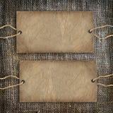 Toile de jute de cru de texture de café de fond Images libres de droits