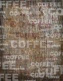 Toile de jute de cru de texture de café de fond Photos stock