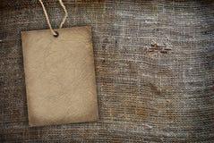 Toile de jute de cru de texture de fond Photo libre de droits