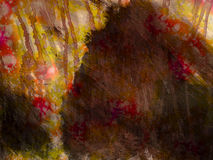 Toile de la peinture cassée de rêves Photo libre de droits