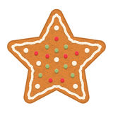 Étoile de pain d'épice Images libres de droits