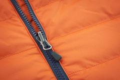 Toile orange avec le fond zip-lock Photo stock