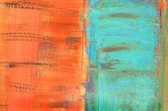 Toile peinte par abstrait Photos libres de droits