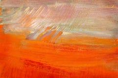 Toile peinte par abstrait Photos stock